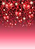 romantischer Hintergrund mit Herzen