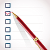 Häkchen und Stift