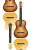 realistische akustische Gitarren als Hintergrund