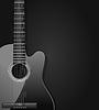 schwarze akustische Gitarre dunklen Hintergrund