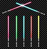 Lichtschwerter mit Farbvariationen