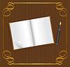 Offenes Buch mit leeren Raum für Text, und Stift, auf