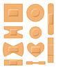 Set von medizinischen Pflastern. Adhesive Bandage Set