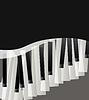Klaviertasten abstrakt musikalischen Hintergrund mit Raum