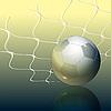 Balón de fútbol y la red | Ilustración