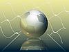 Grid y balón de fútbol | Ilustración