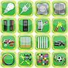 Conjunto de iconos verdes | Ilustración vectorial