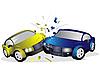 Столкновение автомобилей | Векторный клипарт