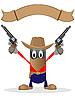 Cowboy und Revolver