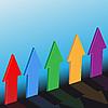 다섯 개의 화살 | Stock Vector Graphics