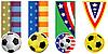 Banderas del fútbol | Ilustración vectorial