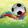 Balón de fútbol y las flechas | Ilustración vectorial
