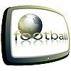Balón de fútbol y la TV | Ilustración vectorial