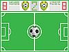 Campo de fútbol y tabla de deportes | Ilustración vectorial