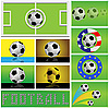 Balones de fútbol | Ilustración vectorial
