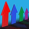 Vier Pfeile | Stock Vektrografik
