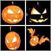 Vier Kürbisse zu Halloween