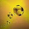 Oro balones de fútbol | Ilustración vectorial
