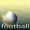 Grid y balón de fútbol | Ilustración vectorial