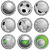 Iconos del fútbol | Ilustración vectorial