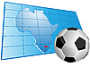 Vector clipart: Africa map and soccer ball