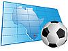 África mapa y balón de fútbol | Ilustración vectorial