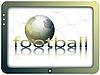 Pantalla y balón de fútbol | Ilustración vectorial