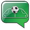 Balón de fútbol en campo de fútbol | Ilustración vectorial