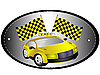 Vector clipart: The sign taxi