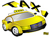 Vector clipart: The yellow taxi