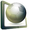 TV y balón de fútbol | Ilustración vectorial