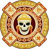 Aztecki bóg śmierci | Stock Vector Graphics