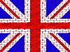 Flaga Wielkiej Brytanii na ceglany mur | Stock Vector Graphics
