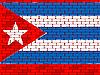 Flaga Kuby na ceglany mur | Stock Vector Graphics
