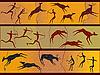 ID 3071196 | Felsenhöhle-Zeichnungen des Urmenschen | Stock Vektorgrafik | CLIPARTO