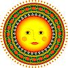 Sonne im russischen Folklore-Stil