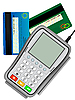 Czytnik kart kredytowych input | Stock Vector Graphics