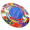 Reihe von Flaggen als ein Symbol für Gemeinwesen | Stock Illustration