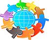Symbol przyjaźni i solidarności | Stock Vector Graphics