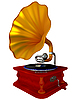 Antiquarisches Grammophon | Stock Illustration