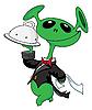 Außerirdische als Kellner