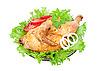 ID 3044221 | Gegrilltes Huhn mit frischem Gemüse | Foto mit hoher Auflösung | CLIPARTO