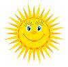 Векторный клипарт: улыбающееся солнце