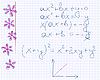 Blumen im Heft für Mathematik