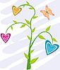 Blumenkarte mit Schmetterling