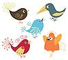 ID 3051876 | Zestaw cute ptaków | Klipart wektorowy | KLIPARTO