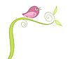 Grußkarte mit Vogel