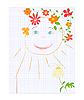 детский рисунок на листе тетради