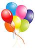 彩色气球 | 向量插图