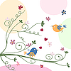 ID 3058265 | Grusskarte mit Vögeln | Stock Vektorgrafik | CLIPARTO